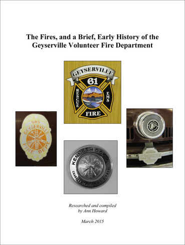 History Gey Fire Dept 2- 2015 Cover