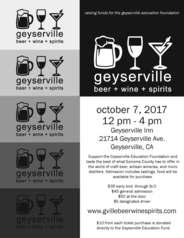 Geyserville Beer Wine Sspirits Festival Flyer2017jpg