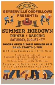 Geyserville Oddfellows Summer Hoedown PosterJPG