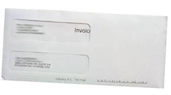 Invoice in Envelope-angledright