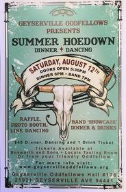 Geyserville Oddfellows Summer Hoedown