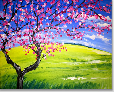 Paint Nite_Cherry Blossoms
